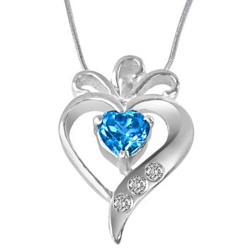 SURAT DIAMOND Silver Pendant with Chain