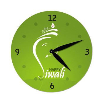 excitingLives Ganesha Diwali Wall Clock