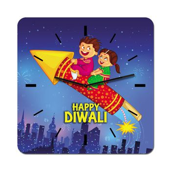 excitingLives Diwali Rocket Wall Clock