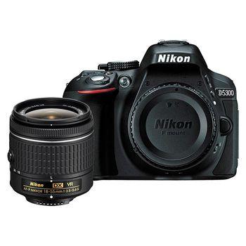 Nikon D5300 DX-Format DSLR Camera w/ AF-P 18-55 VR Lens