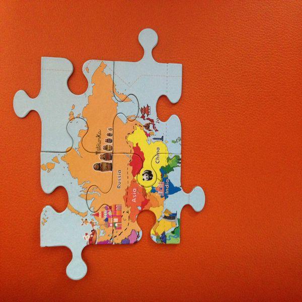 CocoMoco Kids World Continents Jigsaw Puzzle 30pcs Image