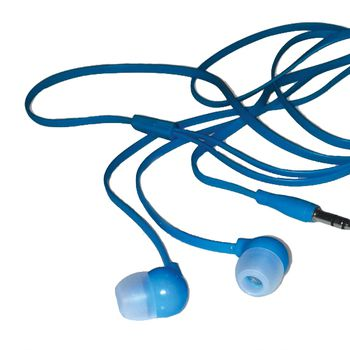 Travel Blue Tangle-Free Earphones