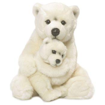 WWF Polar Bear Mother & Child Plush Animal