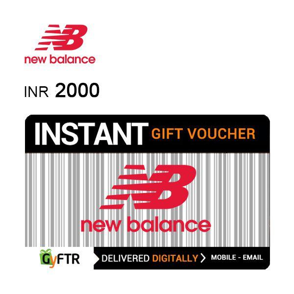 New Balance GyFTR Instant Gift Voucher INR2000 Image