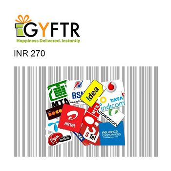 GyFTR Mobile Recharge Instant Gift Voucher INR270