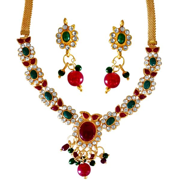 SURAT DIAMOND Noor Jahan Necklace & Earrings Set Image