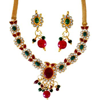 SURAT DIAMOND Noor Jahan Necklace & Earrings Set