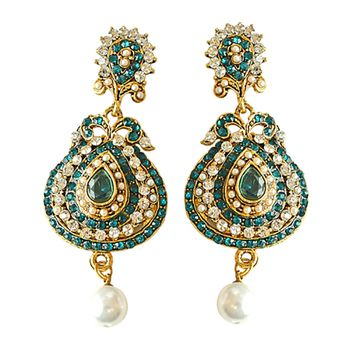 SURAT DIAMOND PSE16 Chandbali Earrings
