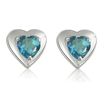 SURAT DIAMOND Blue Bling Earrings