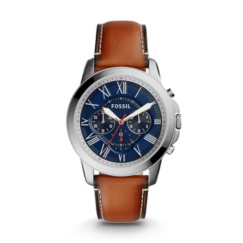 Fossil GRANT Gents Chronograph FS5210 with Leather Strap