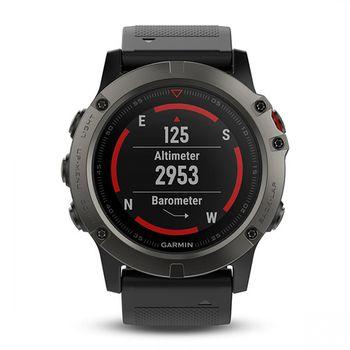 Garmin fēnix™ 5X GPS Watch - Sapphire Lens + Silicone Band