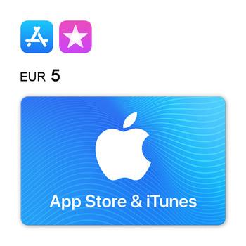 Tarjeta regalo de 5€ para App Store & iTunes