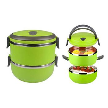 FOX HUNTER Double-Layer Lunch Box