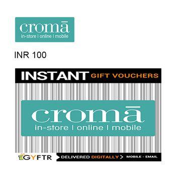 Croma GyFTR Instant Gift Voucher INR100