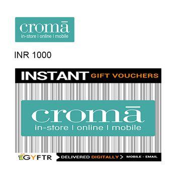 Croma GyFTR Instant Gift Voucher INR1000