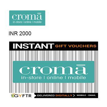 Croma GyFTR Instant Gift Voucher INR2000