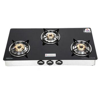 Wonderchef ZEST 3-Burner Glass Cooktop