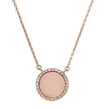 Michael Kors HERITAGE Necklace with Pavé Disc Pendant