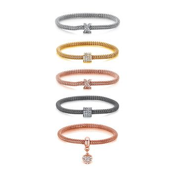 Buckley London Sparkle Mesh Bracelet Set of 5