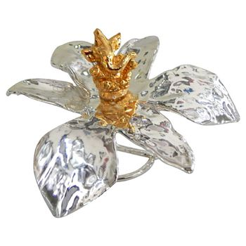 excitingLives SILVER  ORCHID Gold Ganesha Idol