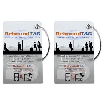 ReboundTAG Microchip Luggage Tag - Double Pack