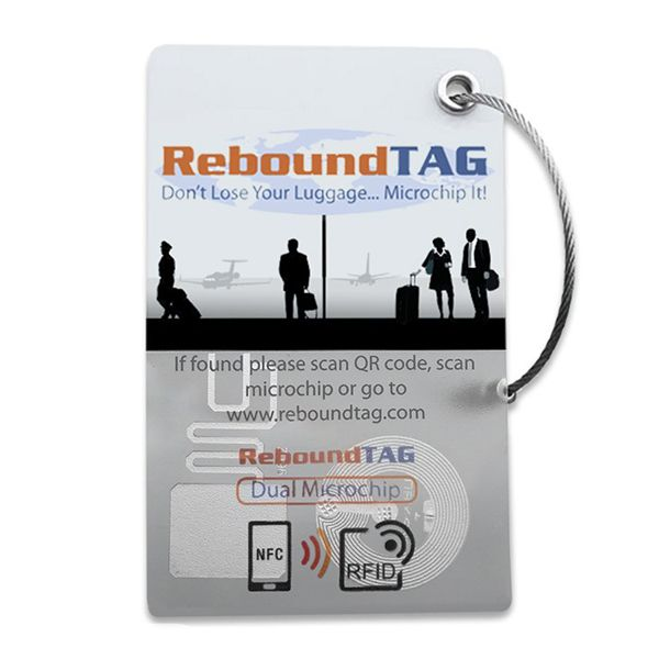 ReboundTAG Microchip Luggage Tag - Corporate PackImage