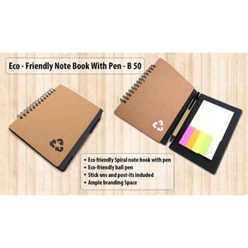 Power Plus Eco Friendly Notepad W/ Pen & Sticky Pads