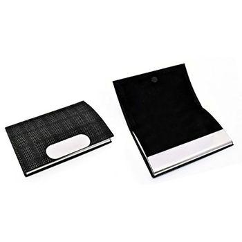 Power Plus Leatherette Card Holder W/ Soft Fabric Feel