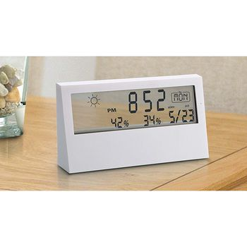 Power Plus Sharp Weather Station Clock W/ See Thru Display