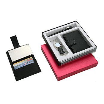 Power Plus Eye Shape Carabiner Keychain 3in1 Wallet & Pen Set