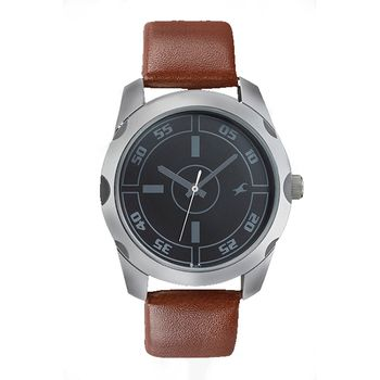 Fastrack Leather Analog Gents Watch
