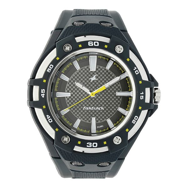 Fastrack PU Analog Round Gents Watch Image