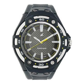 Fastrack PU Analog Round Gents Watch