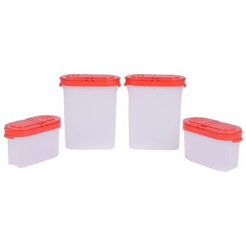 Tupperware Modular Spice Shaker Container Set, 4pcs
