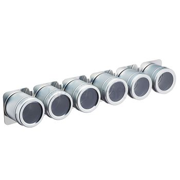 MasterClass Magnetic Spice Rack with 6 Jars