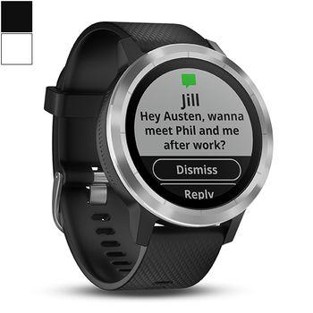 Garmin vivoactive® 3 GPS Smartwatch - Silicone/Steel
