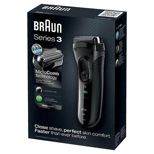 Braun Series 3 ProSkin 3020s Rechargeable Electric ShaverImage