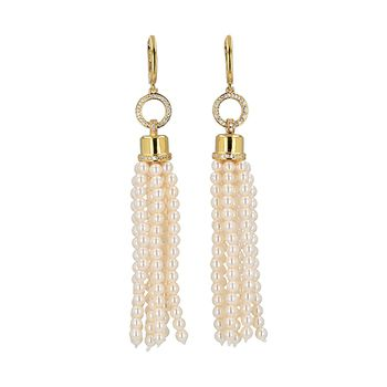 Mia's TASSEL Pearl Earrings