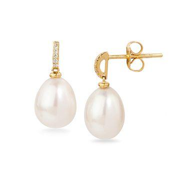 UMI Pearls ASTRIA Diamond Pearl Earrings