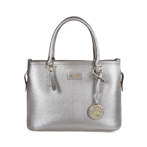 Beverly Hills Polo Club Saffiano Leather Tote BagImage
