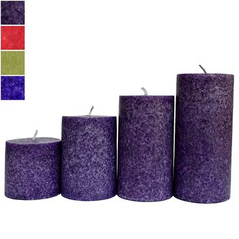 Delice Aroma Pillar Candle Set - 3pcs