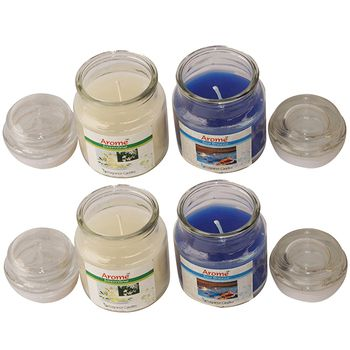 Delice Aroma Jar Candles Set - 4pcs
