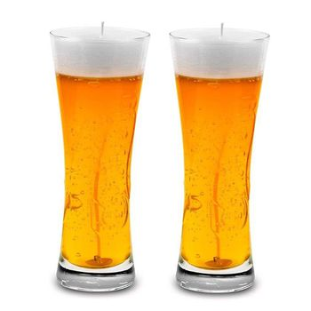 Delice Beer Glass Candle 2pcs