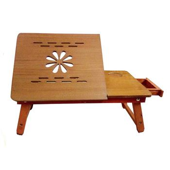 Ginnie & Ginnie Pinewood Laptop Table with Router Cut