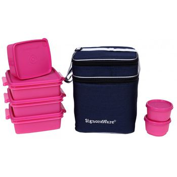 Signoraware Family Pack Lunch Box with Bag