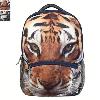 Bleu Tiger-Print Laptop Backpack 30l