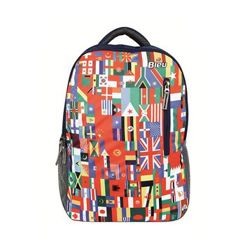 Bleu Flag-Print Laptop Backpack 2025