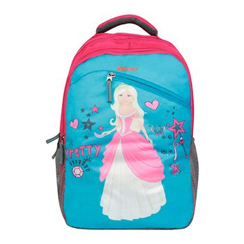 Bleu Princess-Print Laptop Backpack 30l