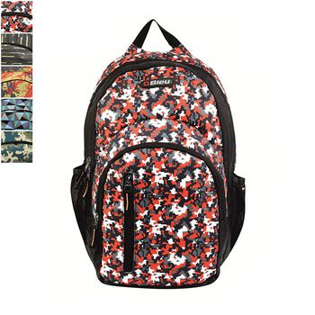 Bleu Printed Laptop Backpack 30l