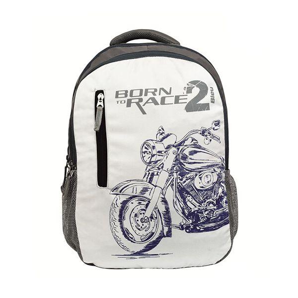 Bleu BORN TO RACE 2 Printed Laptop Backpack 30l Image
